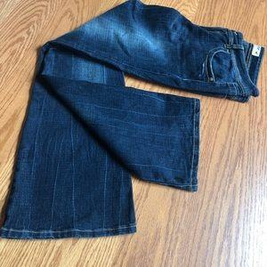 Grane Lowrise Flare Dark Jeans